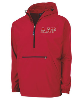 Lambda Alpha Upsilon Tackle Twill Lettered Pack N Go Pullover