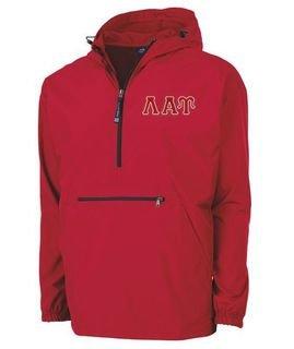 Lambda Alpha Upsilon Tackle Twill Lettered Pack N Go Pullover