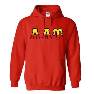 Lambda Alpha Upsilon Two Tone Greek Lettered Hooded Sweatshirt