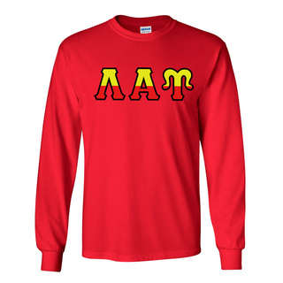 Lambda Alpha Upsilon Two Tone Greek Lettered Longsleeve Tee