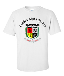 Lambda Alpha Upsilon Vintage Crest - Shield T-shirt
