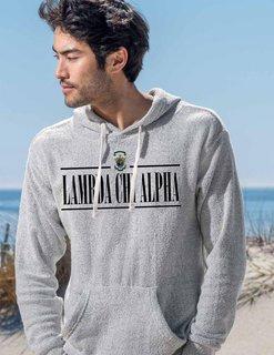 Lambda Chi Alpha Line Crest Lucas Loop Fleece Hood