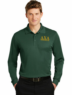 Lambda Chi Alpha- $30 World Famous Long Sleeve Dry Fit Polo