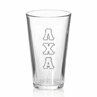 Lambda Chi Alpha Big Letter Mixing Glass