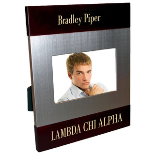 Lambda Chi Alpha Brush Silver Frame