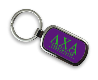 Lambda Chi Alpha Chrome Custom Keychain