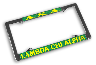 Lambda Chi Alpha Chrome License Plate Frames