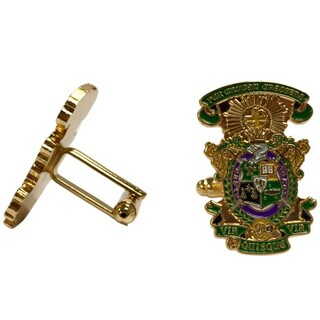 Lambda Chi Alpha Color Crest - Shield Cuff links-ON SALE!