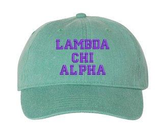 Lambda Chi Alpha Comfort Colors Pigment Dyed Baseball Cap