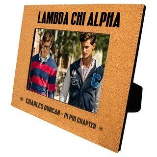 Lambda Chi Alpha Cork Photo Frame