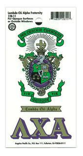 Lambda Chi Alpha Crest - Shield Decal