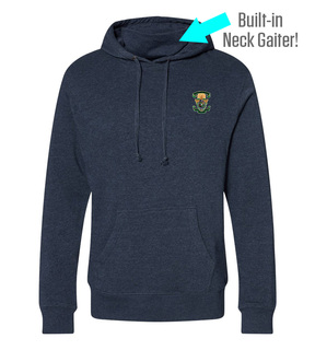 Lambda Chi Alpha Crest Gaiter Fleece Hooded Sweatshirt