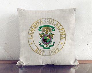 Lambda Chi Alpha Crest Linen Pillow