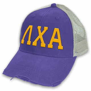 Lambda Chi Alpha Distressed Trucker Hat