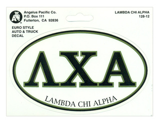 Lambda Chi Alpha Euro Decal Oval Sticker