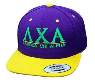 Lambda Chi Alpha Flatbill Snapback Hats Original