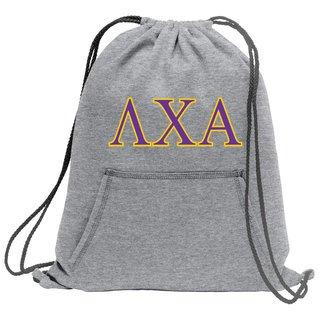 Lambda Chi Alpha Fleece Sweatshirt Cinch Pack