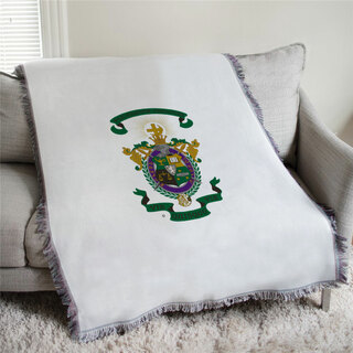 Lambda Chi Alpha Full Color Crest Afghan Blanket Throw
