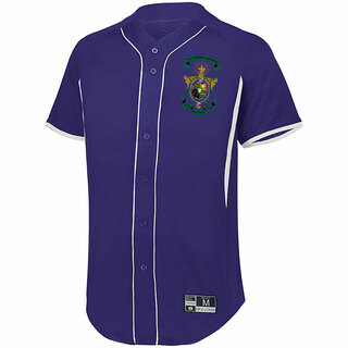 Lambda Chi Alpha Game 7 Full-Button Baseball Jersey