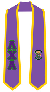 DISCOUNT-Lambda Chi Alpha Greek 2 Tone Lettered Graduation Sash Stole