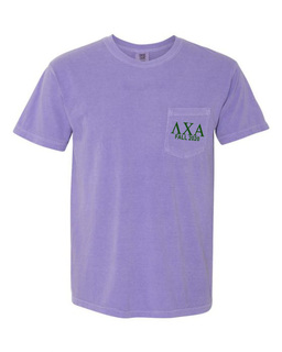 Lambda Chi Alpha Greek Letter Comfort Colors Pocket Tee