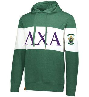 Lambda Chi Alpha Ivy League Hoodie W Crest On Left Sleeve