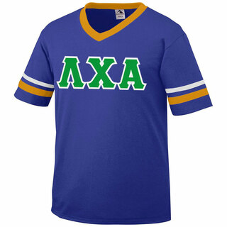 DISCOUNT-Lambda Chi Alpha Jersey With Greek Applique Letters