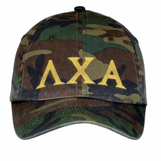Lambda Chi Alpha Lettered Camouflage Hat