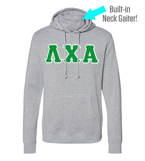 Lambda Chi Alpha Lettered Gaiter Fleece Hooded Sweatshirt
