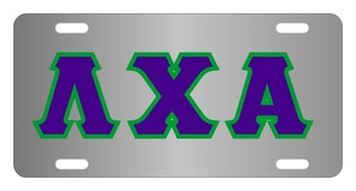 Lambda Chi Alpha Lettered License Cover