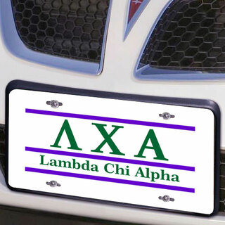 Lambda Chi Alpha Lettered Lines License Cover