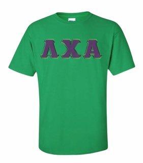 Lambda Chi Alpha Lettered T-shirt - MADE FAST!