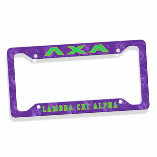 Lambda Chi Alpha Custom License Plate Frame
