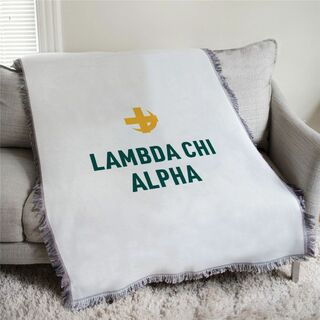 Lambda Chi Alpha Logo Afghan Blanket Throw
