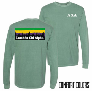 Lambda Chi Alpha Outdoor Long Sleeve T-shirt - Comfort Colors