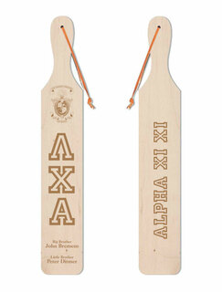 Lambda Chi Alpha Old School Wood Greek Paddle
