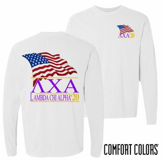 Lambda Chi Alpha Patriot Long Sleeve T-shirt - Comfort Colors