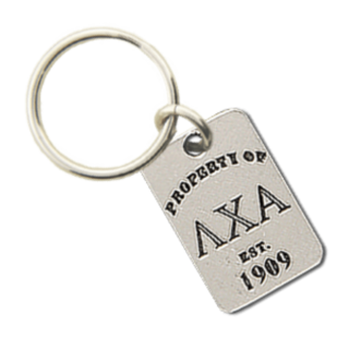 Lambda Chi Alpha Property of Tag Keychain