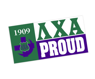 Lambda Chi Alpha Proud Bumper Sticker - CLOSEOUT
