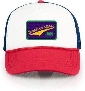 Lambda Chi Alpha Red, White & Blue Trucker Hat