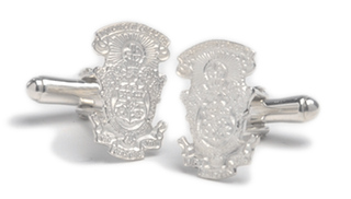 Lambda Chi Alpha Sterling Silver Crest - Shield Cufflinks