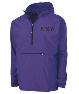 Lambda Chi Alpha Tackle Twill Lettered Pack N Go Pullover