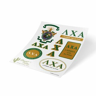 Lambda Chi Alpha Traditional Sticker Sheet