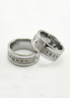 Lambda Chi Alpha Tungsten Ring