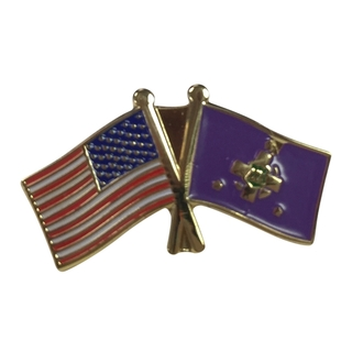 Lambda Chi Alpha USA Flag Lapel Pin