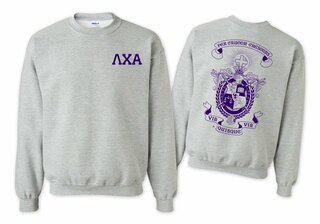 Lambda Chi Alpha World Famous Crest - Shield Printed Crewneck Sweatshirt- $25!