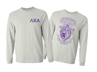 Lambda Chi Alpha World Famous Crest - Shield Long Sleeve T-Shirt- $19.95!