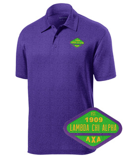 DISCOUNT-Lambda Chi Alpha Woven Emblem Greek Contender Polo
