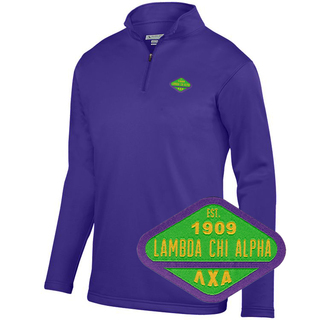 DISCOUNT-Lambda Chi Alpha Woven Emblem Wicking Fleece Pullover