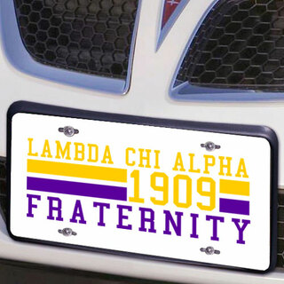 Lambda Chi Alpha Year License Plate Cover